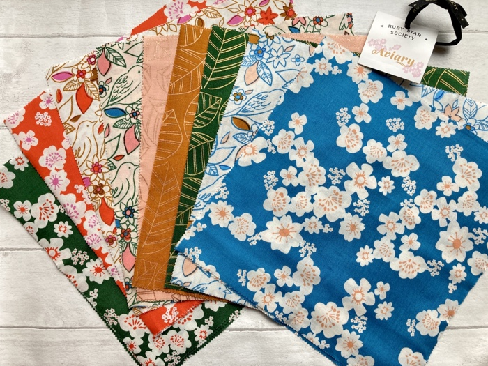 floral and birds Japanese style fabrics Avery by Ruby Star
